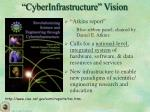 cyberinfrastructure vision