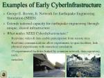 examples of early cyberinfrastructure