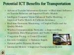 potential ict benefits for transportation1