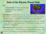 state of the electric power grid