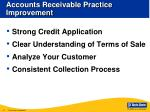 accounts receivable practice improvement