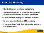 bank line financing