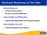electronic resources at tech data