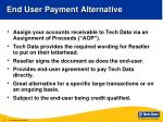 end user payment alternative