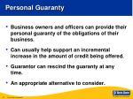 personal guaranty