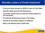 standby letters of credit explained