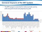 general impacts of the brt system