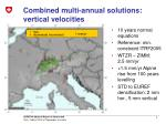 combined multi annual solutions vertical velocities