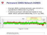 permanent gnss network agnes1