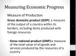 measuring economic progress