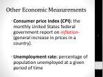 other economic measurements