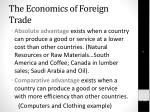the economics of foreign trade