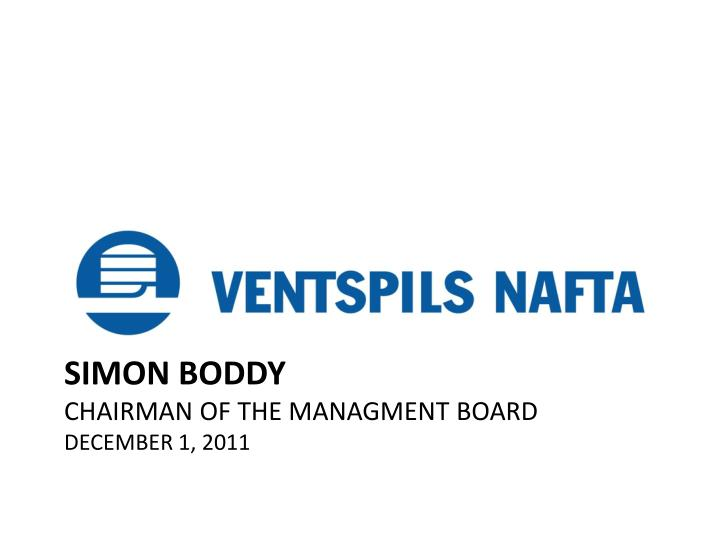 simon boddy chairman of the managment board december 1 2011 n.