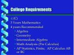 college requirements2