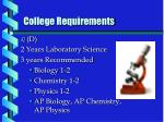 college requirements3