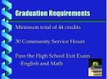 graduation requirements4