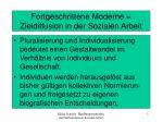 fortgeschrittene moderne zieldiffusion in der sozialen arbeit