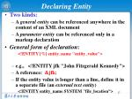declaring entity