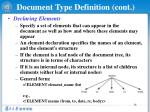 document type definition cont