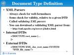 document type definition1