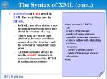 the syntax of xml cont1