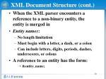 xml document structure cont