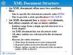 xml document structure