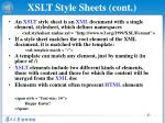 xslt style sheets cont1