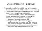 choice research positive