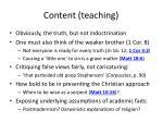 content teaching
