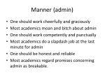 manner admin