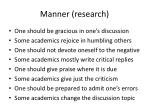 manner research