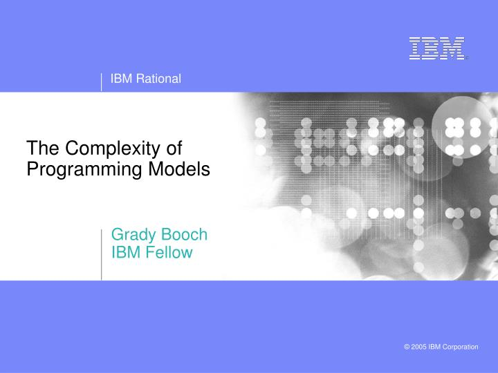 the complexity of programming models n.
