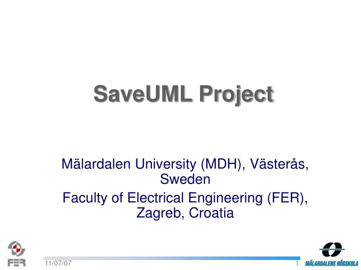 m lardalen university mdh v ster s sweden faculty of electrical engineering fer zagreb croatia n.