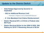 update to the district deficit