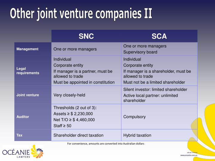 Other joint venture companies II