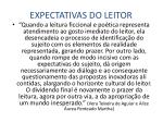 expectativas do leitor