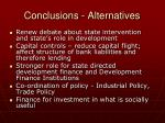 conclusions alternatives