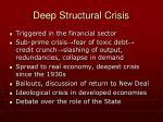 deep structural crisis