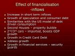 effect of financialisation inflows