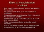 effect of financialisation outflows