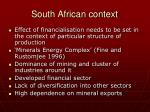 south african context
