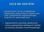 cele na 2009 rok2