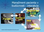 mana ment pacienta v bud cnosti interakcia