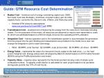 guide gtm resource cost determination
