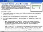 guide potential local resources