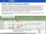 guide utility comparison matrix