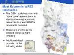 most economic wrez resources