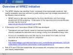 overview of wrez initiative