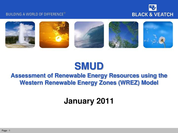smud assessment of renewable energy resources using the western renewable energy zones wrez model n.